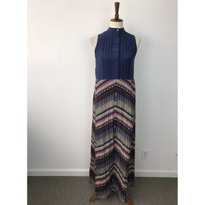 Mara Hoffman Silk Blend Pleated Maxi Dress